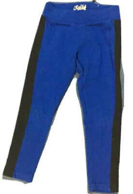 Justice Girl's Blue & Black Leggings. Size 6    FREE SHIPPING