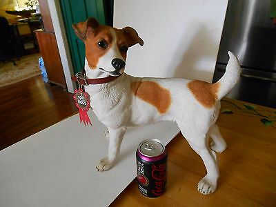 full size large jack russell terrier country artists top dog statue figurine