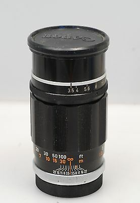 Canon 135mm f3.5 for rangefinder LTM M39 w/ proper caps.... Nice!