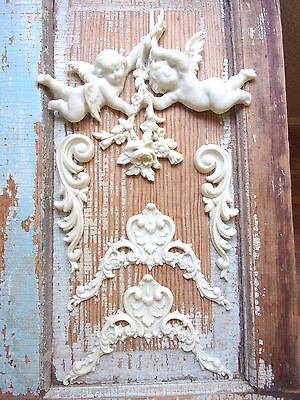 Shabby & Chic Roses Cherubs Furniture Appliques   * Wholesale Lot * New Colors!