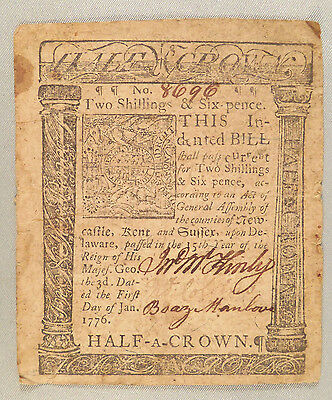 """1776 """"two Shillings & 6 Pence"""" (Half Crown) Colonial Currency"""