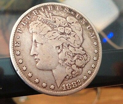 US - 1882  San Francisco Mint Silver Morgan Dollar FREE SHIPPING