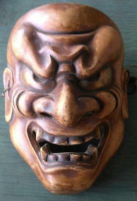 Old Vintage Asian Chinese Face Figural Mask Man Demon