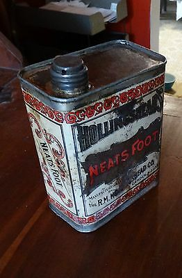 Vintage Antique Tin Hollingshead's Neatsfoot Camden, New Jersey