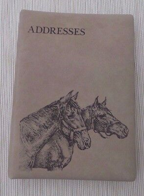 NEW Vintage  Beige Horses  Address Book  by Small World Greetings USA in Box