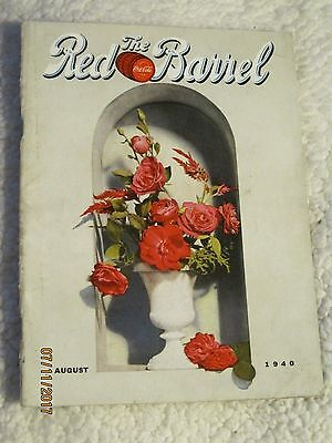 August 1940 The Red Barrel, vintage Coca Cola Magazine, Flower Arranging Cover~
