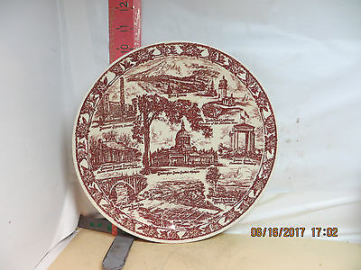 Vernon Kilns Washington State Plate - Washington As It Was About 1950 - No Damag