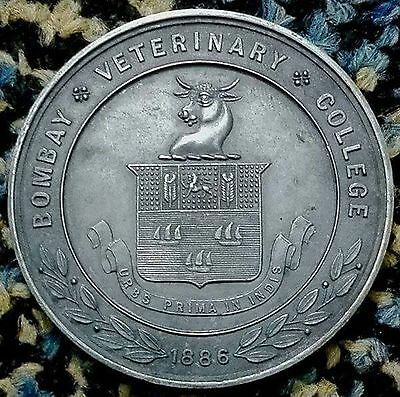 Large Silver Medallion - Bombay Veterinary College – General Award - J.p. Damri