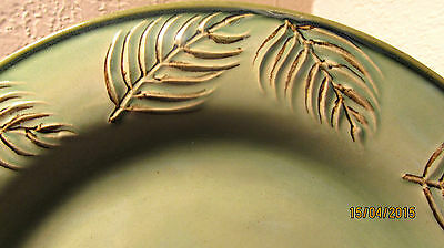 "Louisville Stoneware 2 ""fern"" Dinner Plates - Beautiful Condition!!"