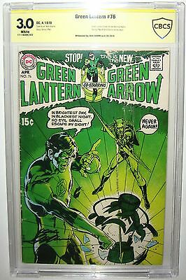 Green Lantern #76 1ST GREEN LANTERN/GREEN ARROW NEAL ADAMS SIGNED 3.0 CBCS