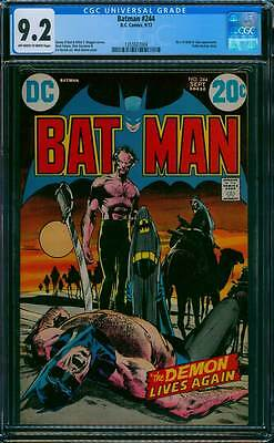 Batman # 244  Neal Adams  The demon Lives Again !  CGC 9.2 scarce book !