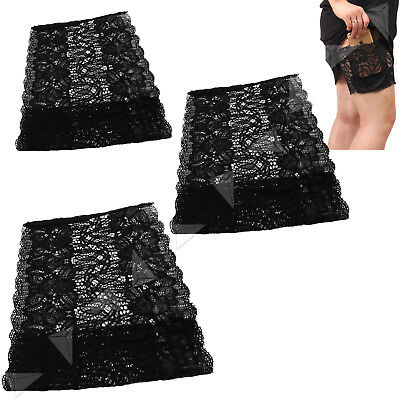 Women Lady Elastic Sock Anti-Chafing Thigh Bands Prevent Leg Cover Warmers S/M/L