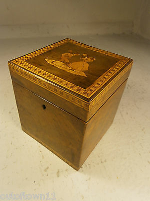 Antique Sorrento Ware Tea Caddy Box      0119