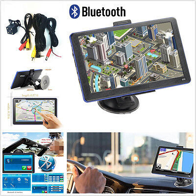 "12V 7"" Capacitive Touchscreen 8GB Car GPS Navigation Bluetooth North America Map"