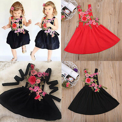 Baby Girl Floral Dress Kids Party Wedding Pageant Formal Dress Sundress Clothes
