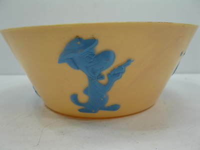 1961 Hanna Barbera Huckleberry Hound Plastic Cereal Bowl  Stampinsisters
