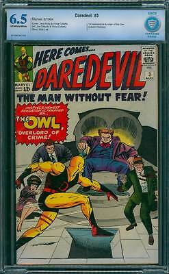 Daredevil # 3  1st app.of The Owl, Overlord of Crime !  CBCS 6.5 scarce book !