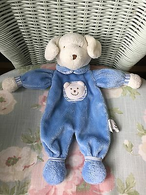 Jellycat Kitten Peejay Puppy Dog Blankie Comforter Soother Soft Hug Toy Blue