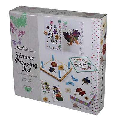 Craft Deco - Flower Pressing Kit - Hobby, Christmas, Birthday Gift