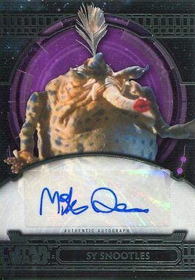 Star Wars 40th Anniversary Purple Autograph Card [40] Mike Quinn As Sy Snootles