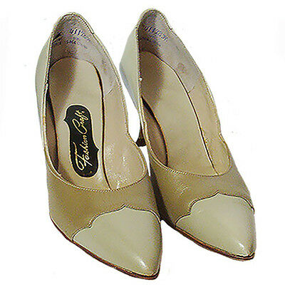 1950s Vintage Fashion Craft 2 Tone Shoes Pointed Toe NOS