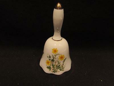 Giftcraft Japan Mid-Century Bell with Yellow Daisy Design
