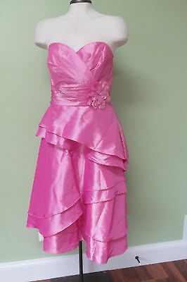 """Pink Formal Tea Length Dress/ New Without Tags/  40"""" Bust"""