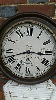 ANTIQUE ANSONIA WALL CLOCK school / station clock FOR SPARES/RESTORE.