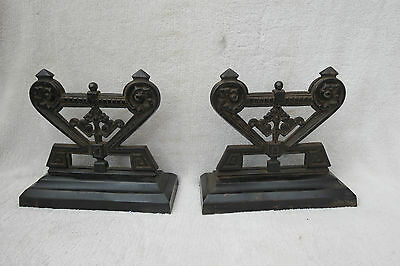 Pair Of Antique Cast Iron Door Stops/andirons