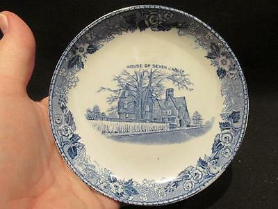 Alfred Meakin Old English Staffordshire Blue & White Bowl House 7 Gables Salem