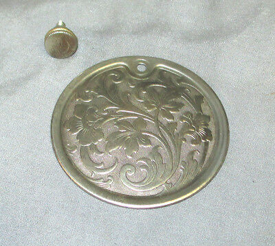 Antique Vintage Floral Singer 15-30 Sewing Machine Round Rear Cover Plate Screw