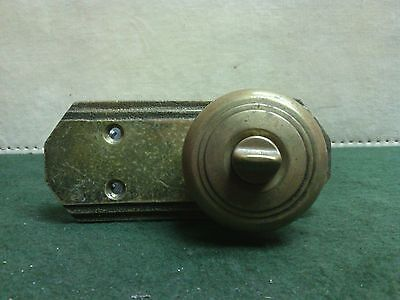 "Vintage Brass door knob, plate and assembly 5"" long"