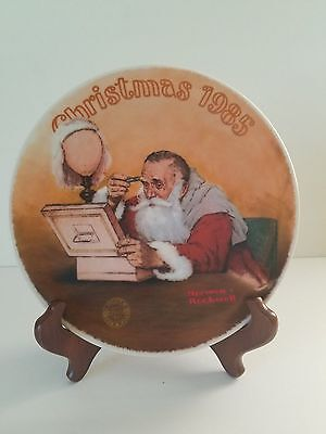 VGT. NORMAN ROCKWELL Grandpa Plays Santa Limited Edition PLATE 1985