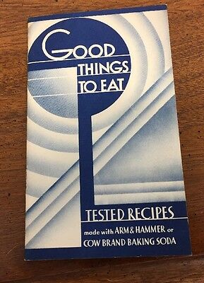 """Interesting 1936 Booklet Arm & Hammer """"Good Things To Eat"""""""