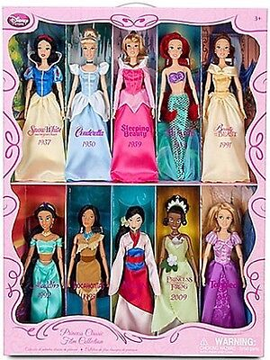 New In Box Customized 2011 Disney Store Classic Film Collection Dolls Set Of 10