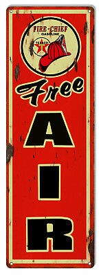 Large Distressed Free Air Texaco Reproduction Motor Oil Metal Sign 8x24