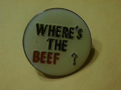 Where's the Beef (Wendy's) New Lapel Pin