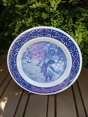 Rorstrand Mors Dag 1976 Limited Edition Collectors Plate Sweden