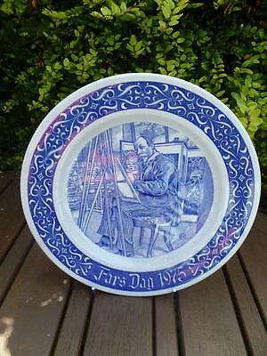 Rorstrand Fars Dag 1975 Limited Edition Collectors Plate Sweden