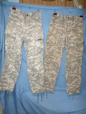 Us Military Acu Camo 2 Pair Trousers Small Regular No Sz Tags Used