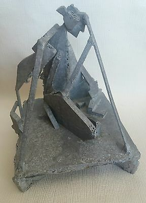 Super Signed Brutalist Sculpture Modernist Sculpture Mid Century Art