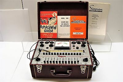 Vintage Simpson Tube Tester Model 1000 with Manuals