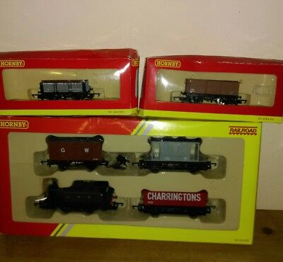 Boxed Hornby R2670 Railroad Train Set,+ Boxed BR One Wagon + 4 Plank Wagon