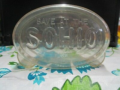 Sohio Plastic Bank - VGC Gas Oil Collectible - Save at the Sohio Sign