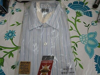 VTG 50s 60s MENS WHITE DRESS SUIT SHIRT VANOPRESS VAN HEUSEN NEW OLD NIP 16 1/2