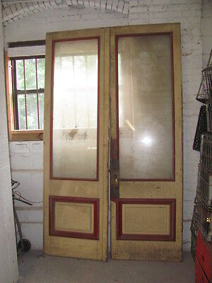 Antique Country Store Double Doors W/ Glass