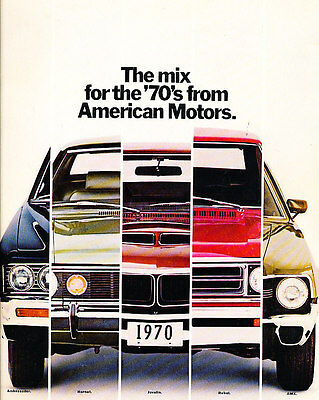 1970 AMC 48-page Car Sales Brochure Catalog Hornet Javelin Rebel AMX Ambassador