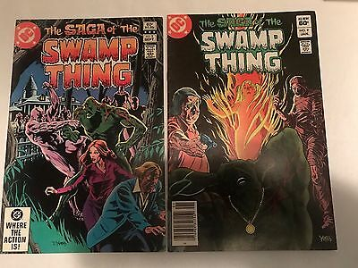 Saga Of The Swamp Thing #5 & #9 DC Comics 1982/1983