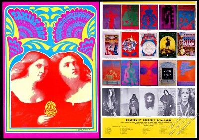 1967 Victor Moscoso psychedelic poster Family Dog Berkeley Bonaparte print ad