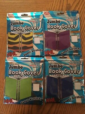 4) It's Academic Premium Edition Jumbo Book Cover Super Stretchy FREE BOOKMARKS